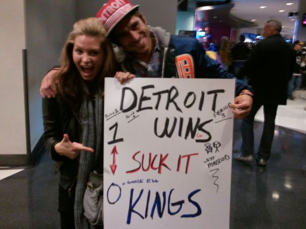 Detroit lost but the poster was a hit.  Go Wings